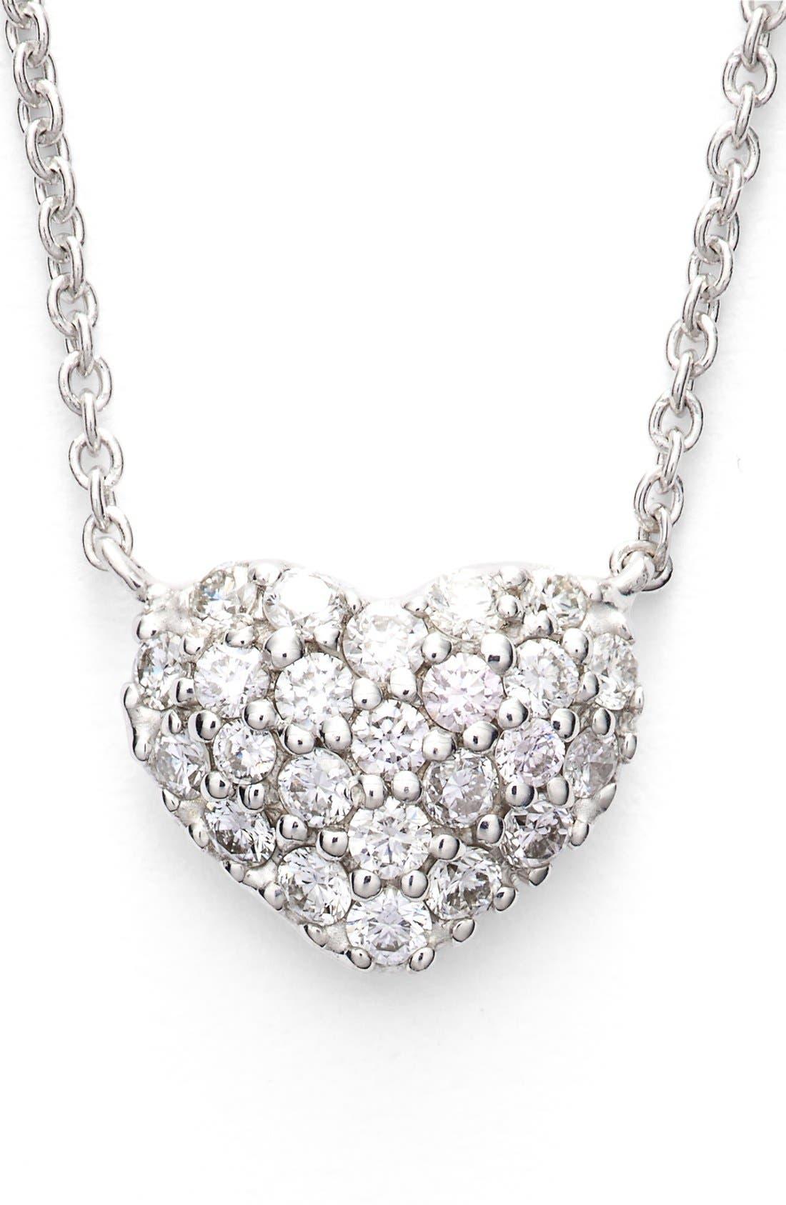 Alternate Image 3  - Bony Levy Diamond Pavé Heart Pendant Necklace (Limited Edition) (Nordstrom Exclusive)
