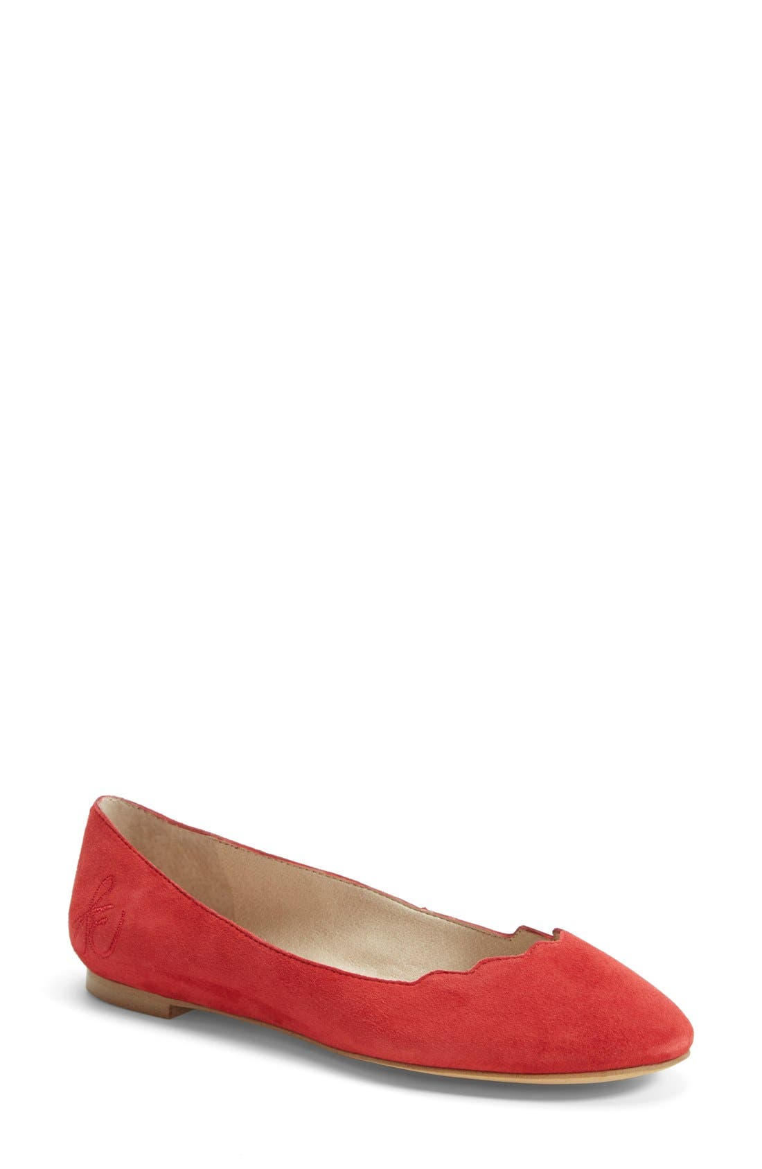 Alternate Image 1 Selected - Sam Edelman 'Alaine' Scalloped Topline Flat (Women)