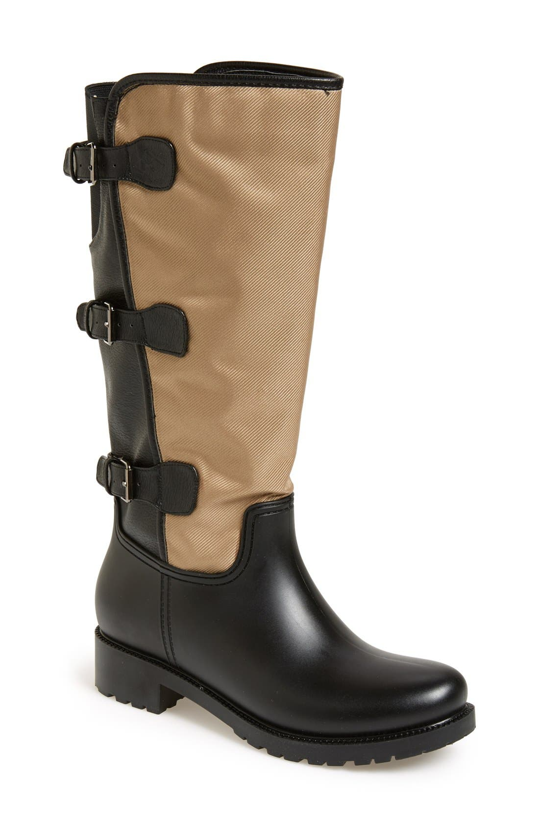 Alternate Image 1 Selected - däv Tall Buckle Rain Boot (Women)