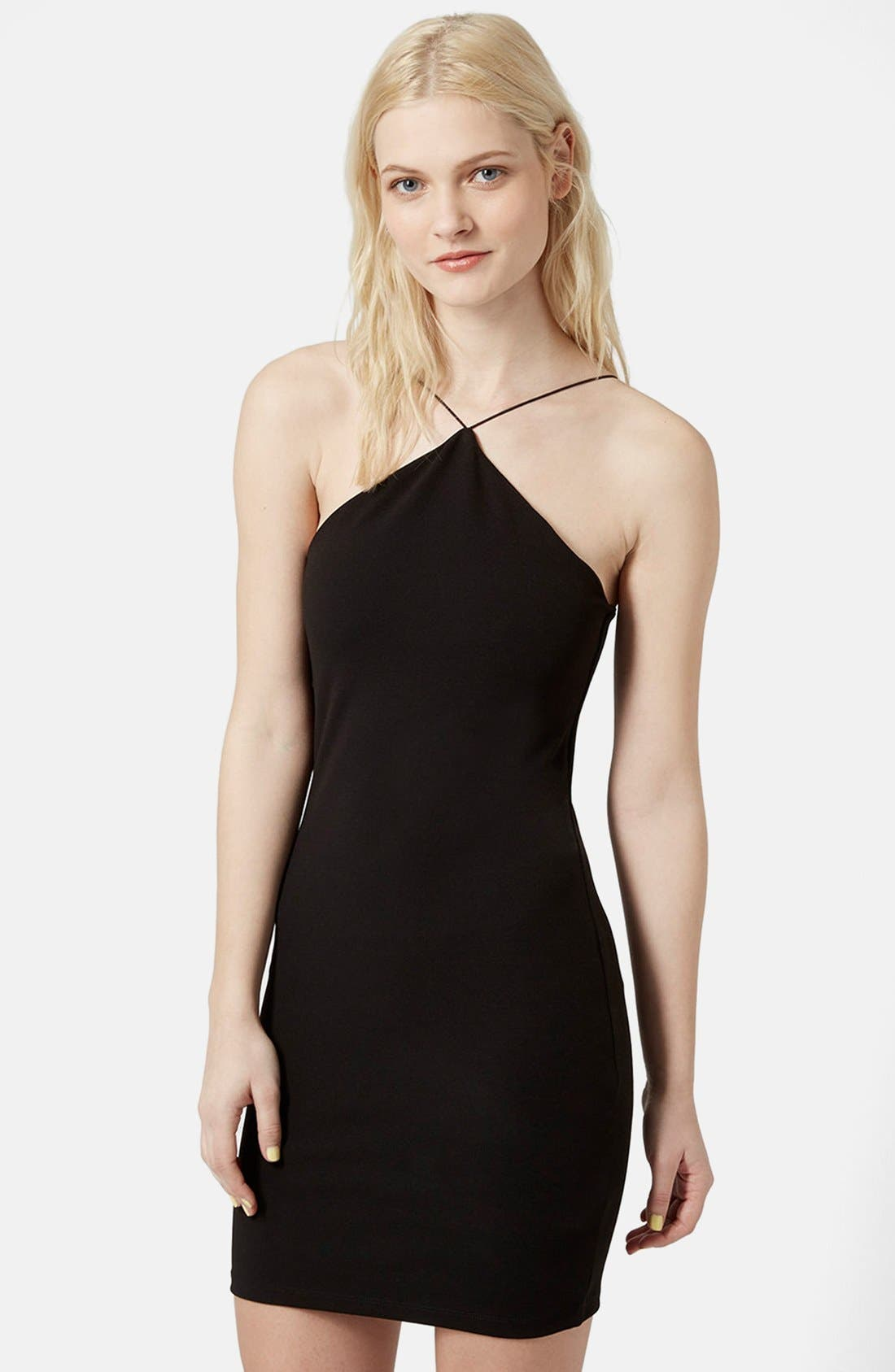 Main Image - Topshop Strappy Body-Con Dress