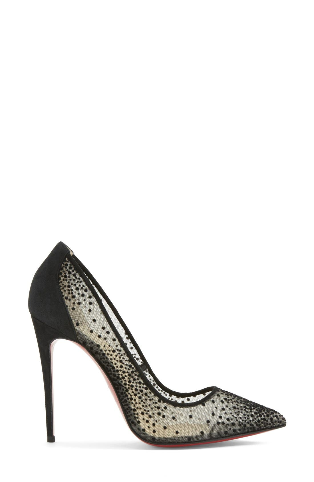 Alternate Image 4  - Christian Louboutin 'Follies' Mesh Pointy Toe Pump