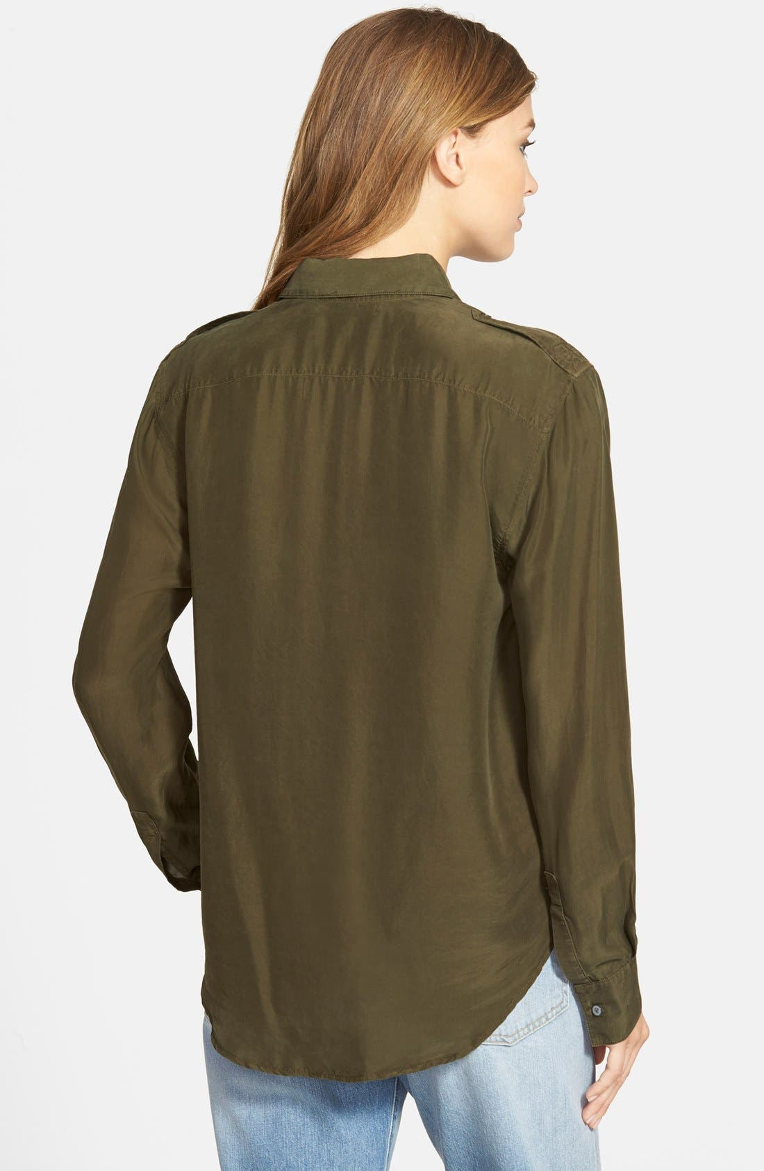 Alternate Image 2  - J Brand Ready-To-Wear 'Edie' Silk Shirt