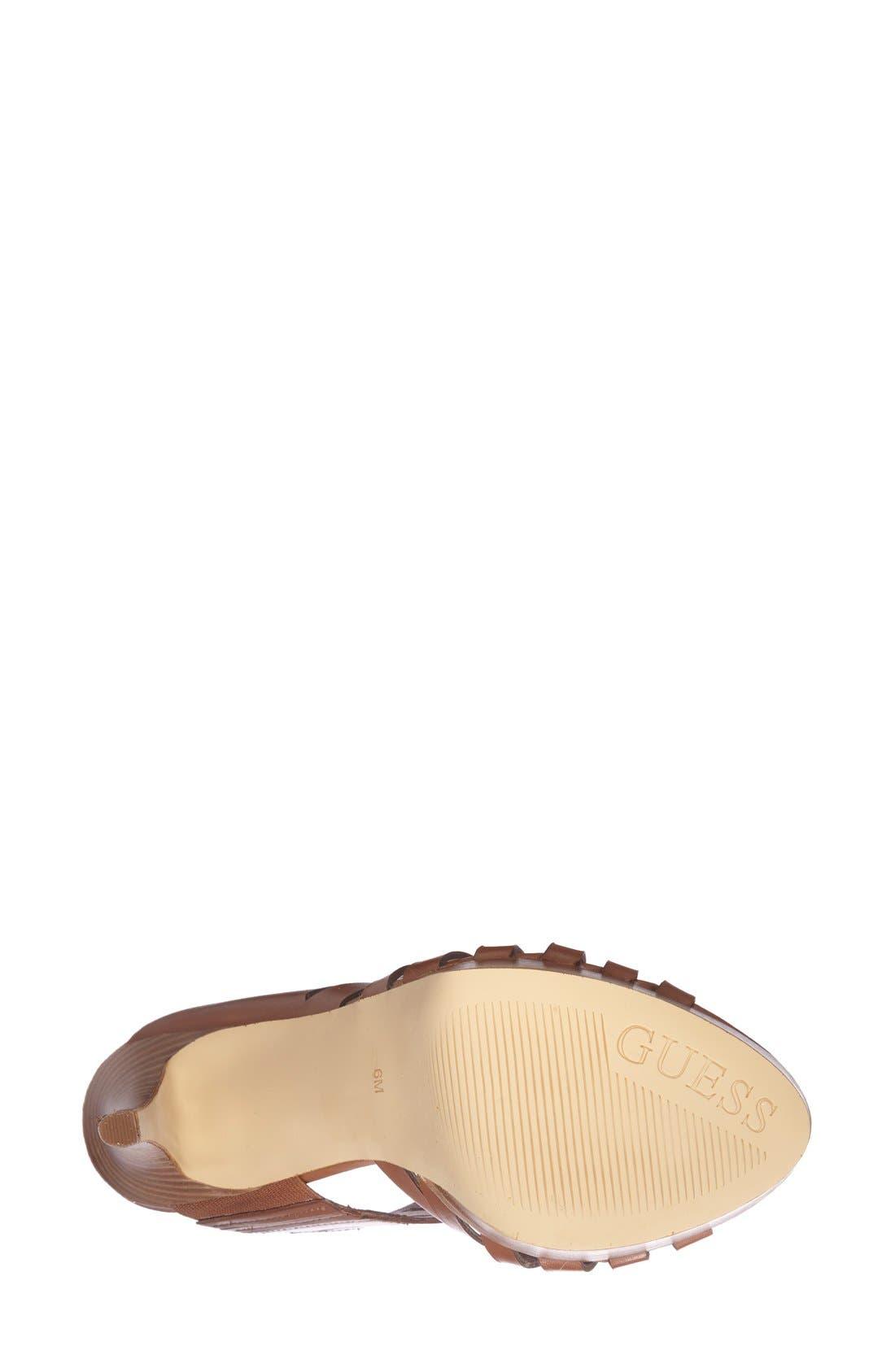 Alternate Image 4  - GUESS 'Kabirra' Cutout Leather Platform Sandal (Women)