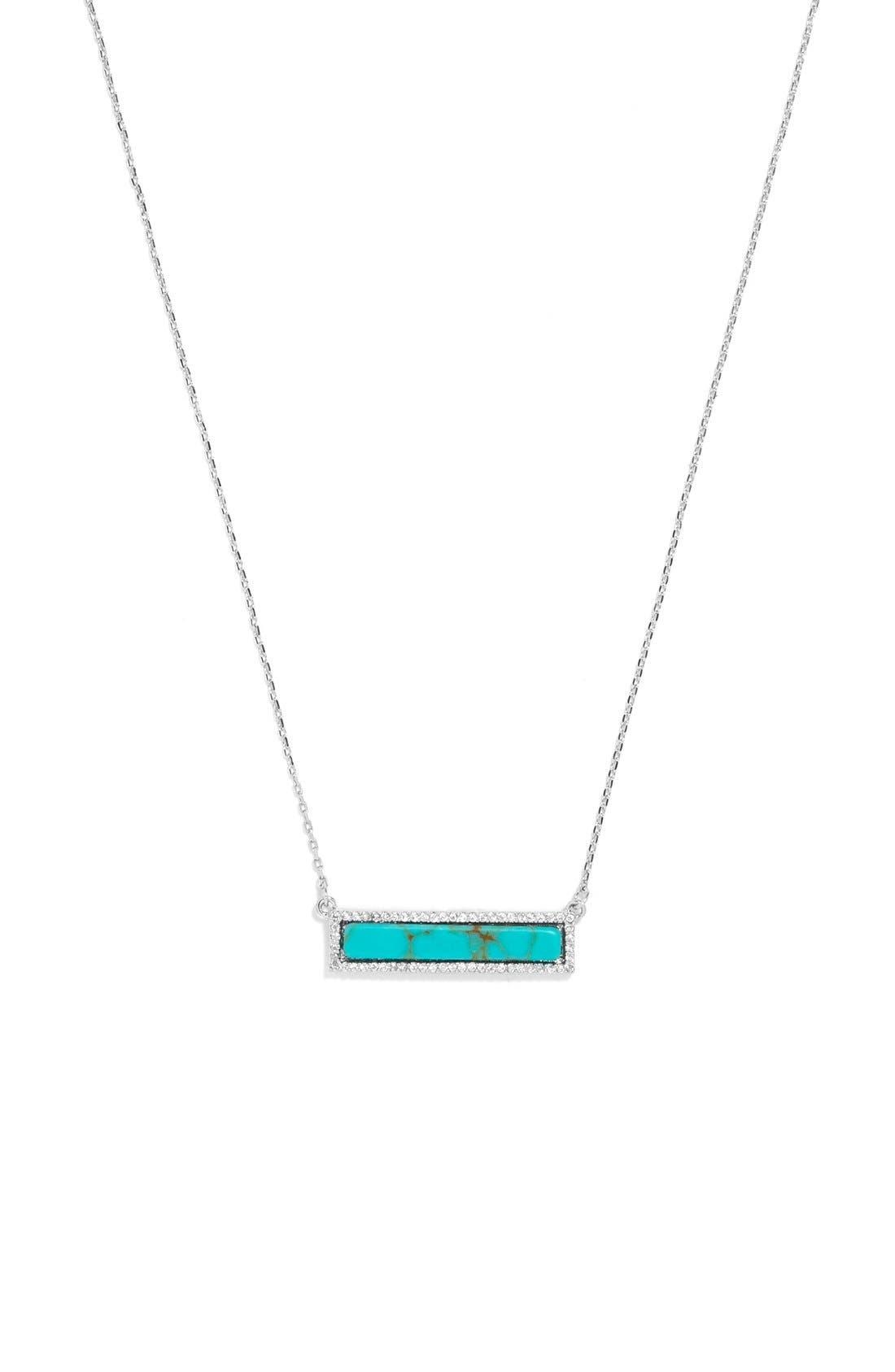 Alternate Image 1 Selected - BaubleBar Pavé Bar Pendant Necklace