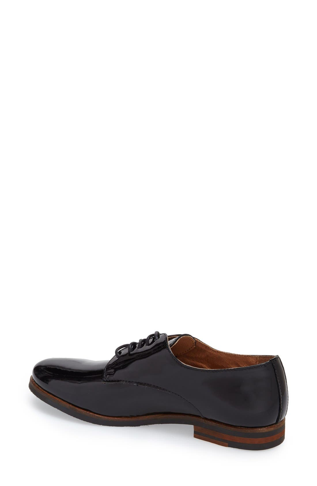 Alternate Image 2  - Dune London 'Laboux' Patent Leather Oxford (Women)