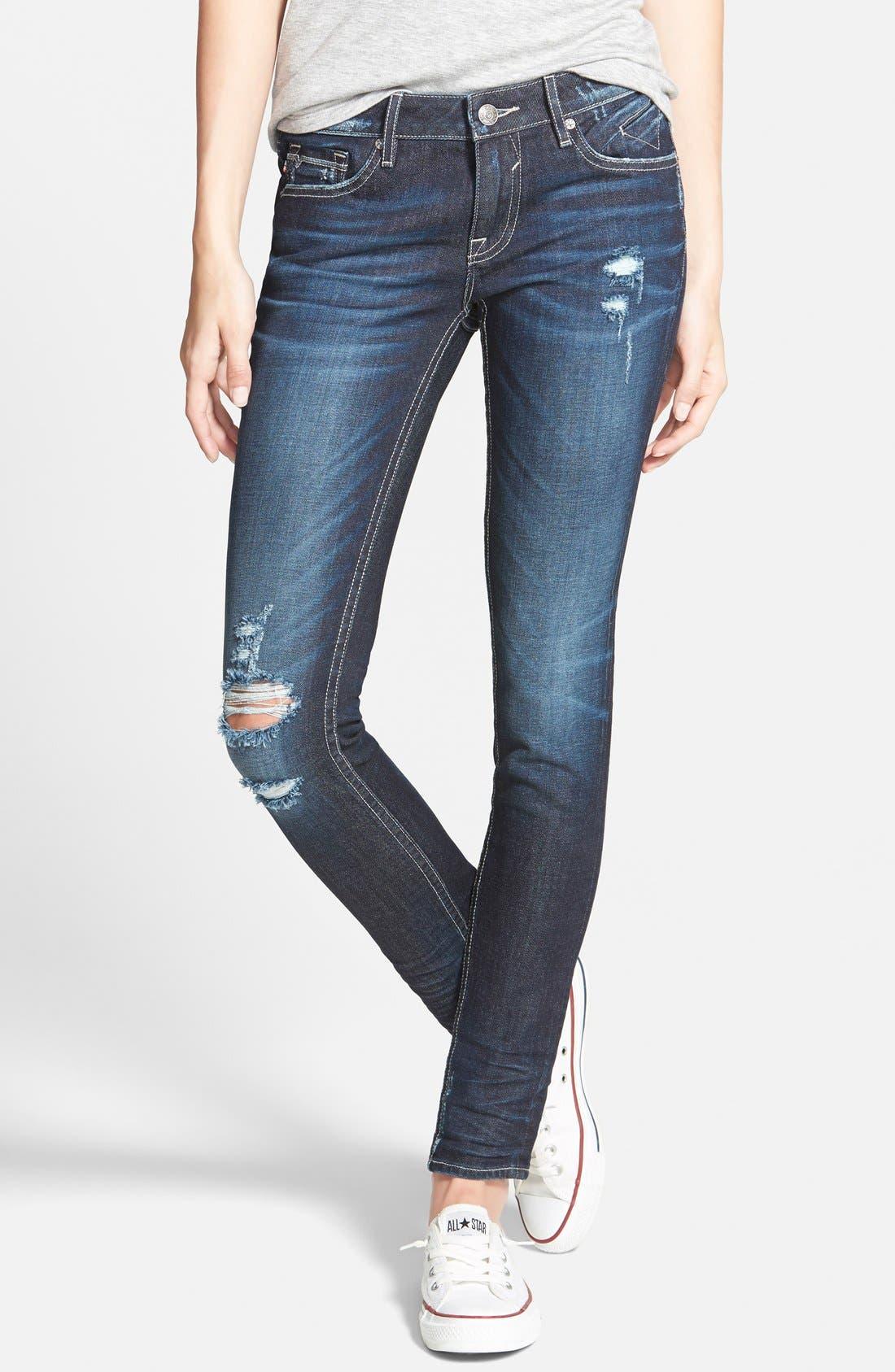 Main Image - Vigoss Distressed Skinny Jeans (Dark)