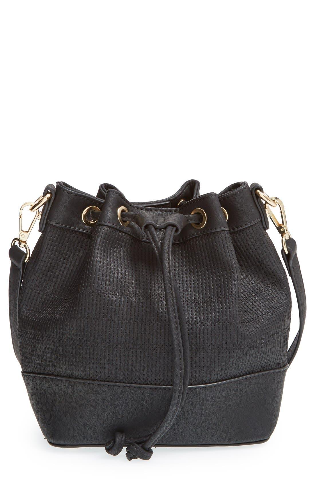 Main Image - BP. Faux Leather Bucket Bag