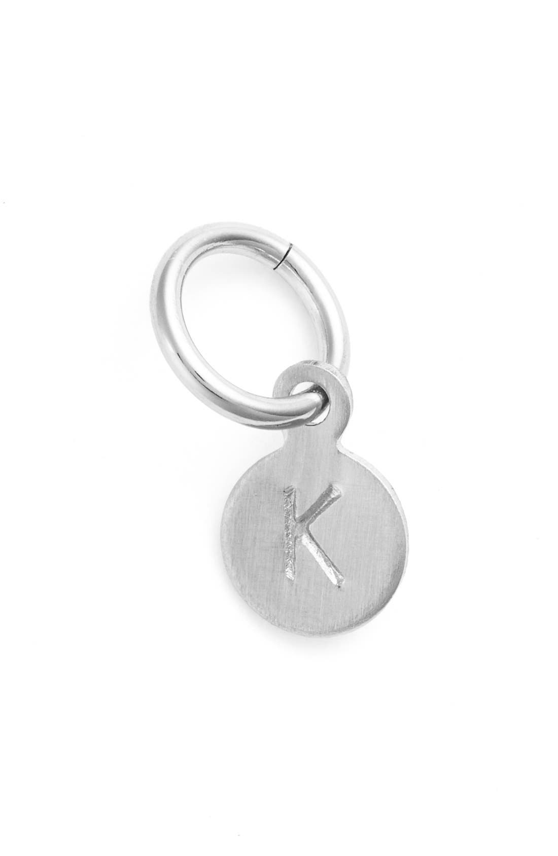NASHELLE Tiny Initial Sterling Silver Coin Charm
