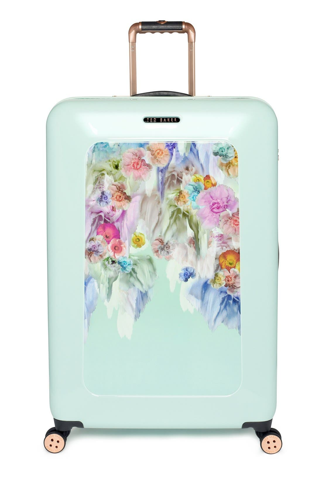 Main Image - Ted Baker London 'Large Sugar Sweet Florals' Hard Shell Suitcase (32 Inch)