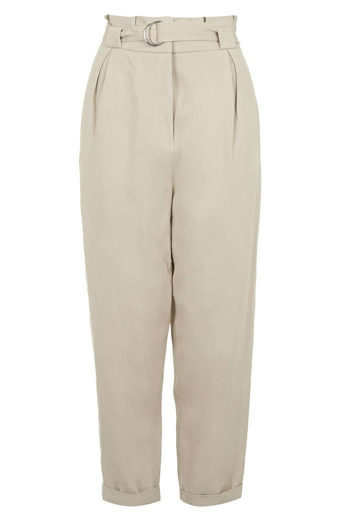 Alternate Image 3  - Topshop D-Ring Tapered Trousers