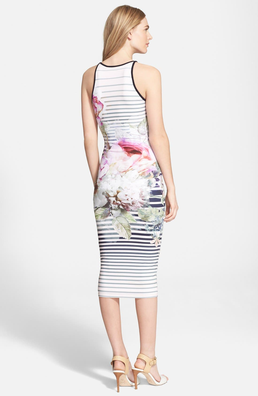 Alternate Image 2  - Ted Baker London 'Laya Peony' Stripe Midi Dress