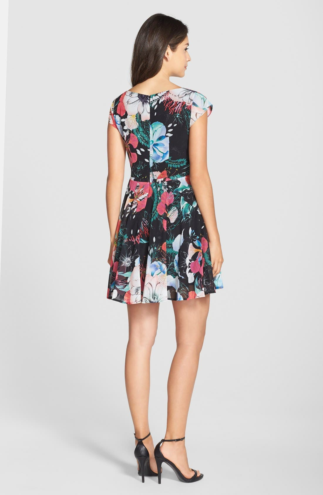 Alternate Image 2  - French Connection 'Floral Reef' Print Chiffon Fit & Flare Dress