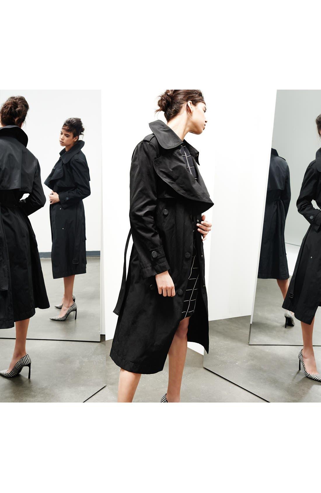 Alternate Image 4  - Lanvin Side Knot Windowpane Woven Dress