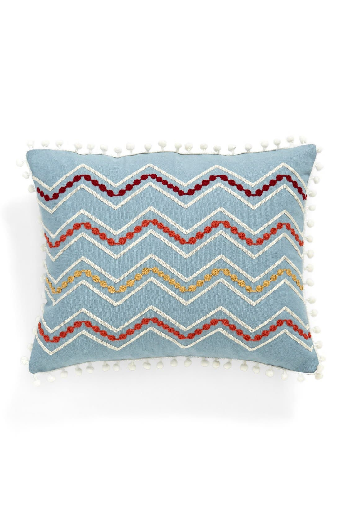 Alternate Image 1 Selected - Levtex Chevron Pompom Pillow