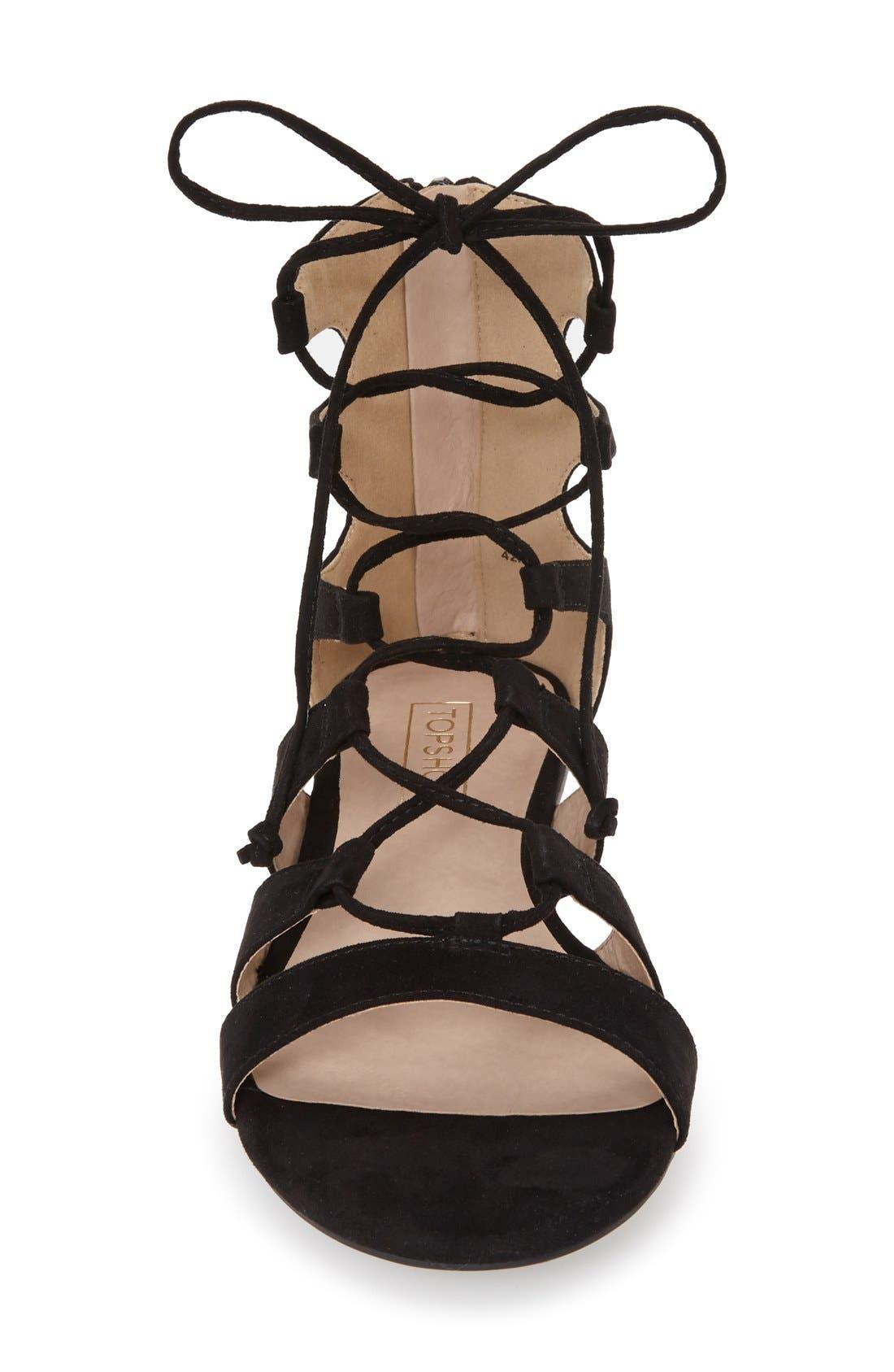 Alternate Image 3  - Topshop Lace-Up Gladiator Sandal (Women)