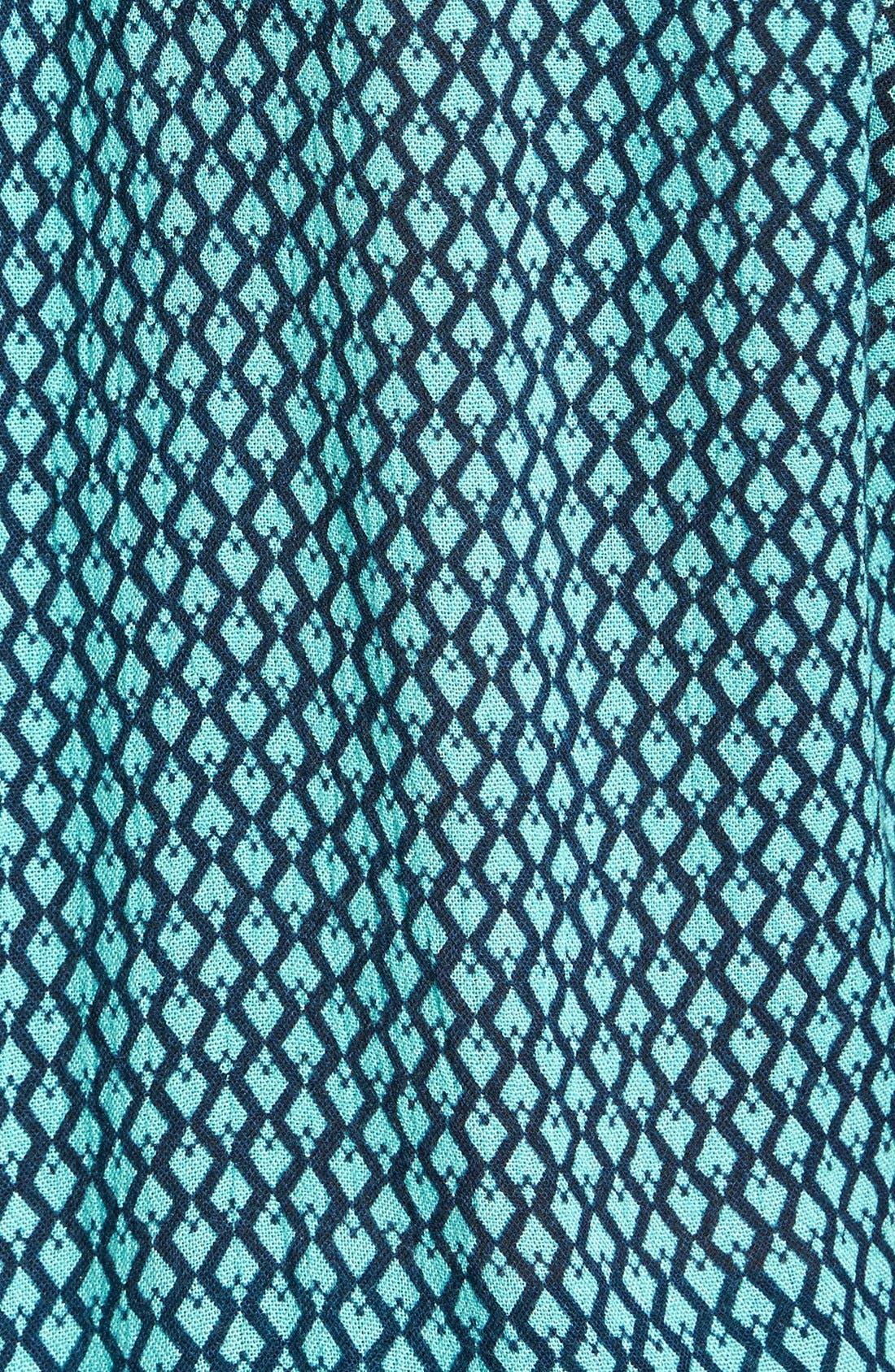 Alternate Image 3  - Caslon® Print Split Neck Shirtdress (Regular & Petite)