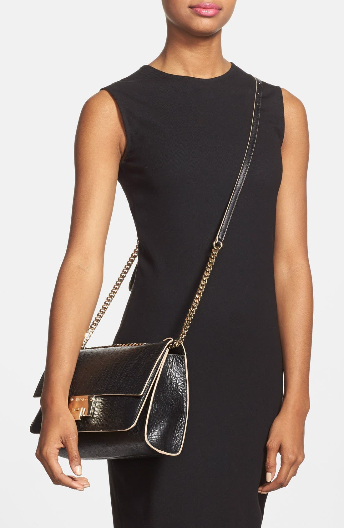 Alternate Image 2  - Jimmy Choo 'Rebel' Washed Leather Shoulder Bag