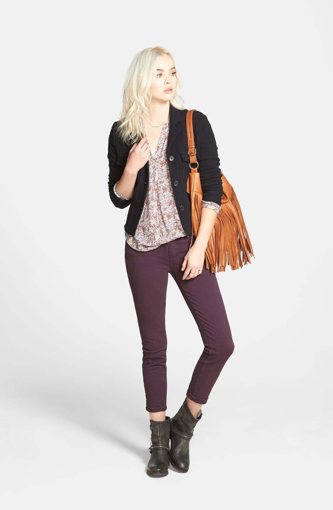 Alternate Image 10  - Paige Denim 'Verdugo' Ankle Skinny Jeans (Autumn Plum) (Nordstrom Exclusive)