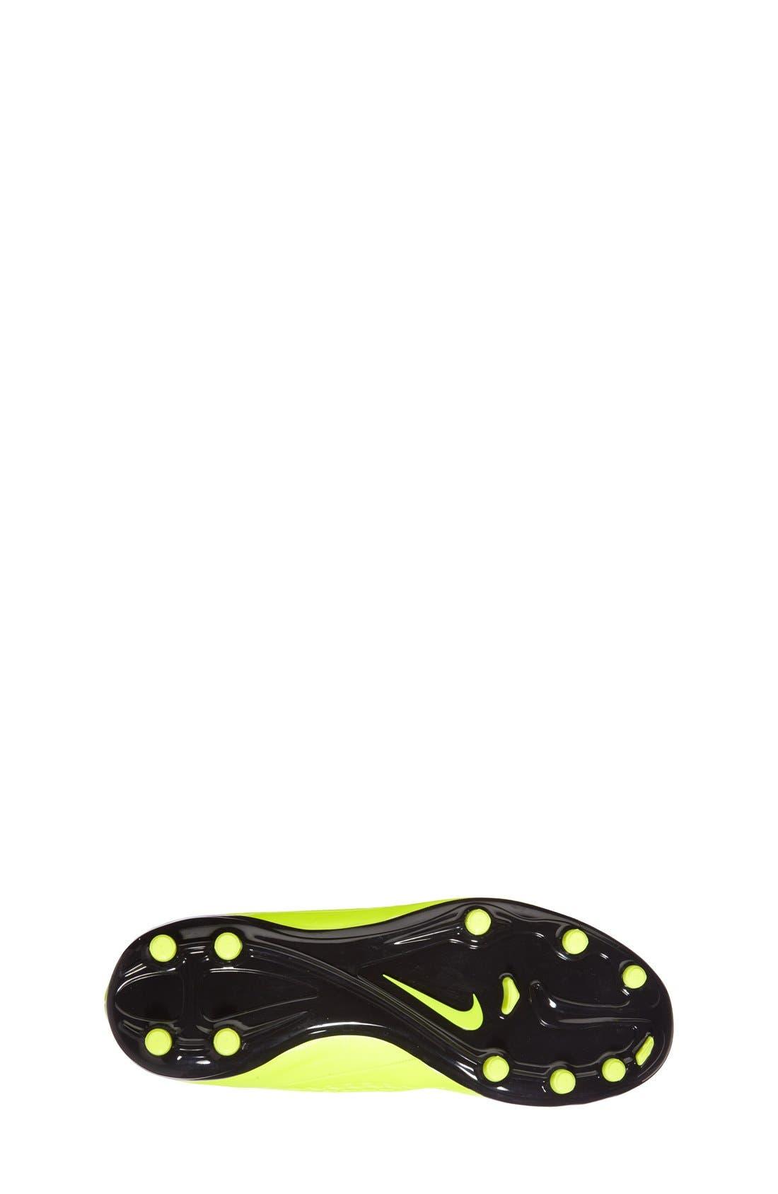Alternate Image 4  - Nike 'Hypervenom Phelon FG' Soccer Cleat (Toddler, Little Kid & Big Kid)