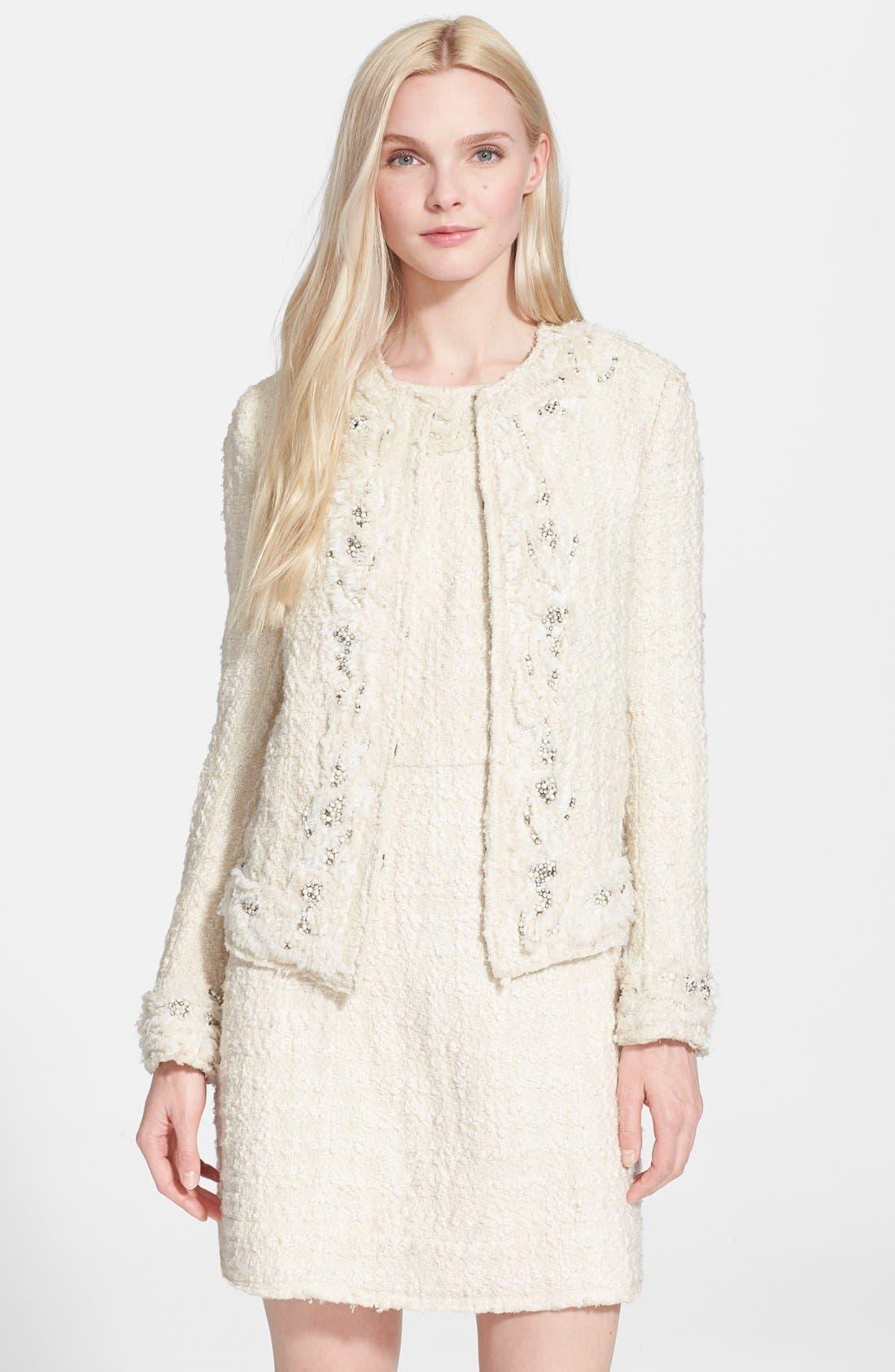 Main Image - Alice + Olivia 'Nila' Embellished Tweed Jacket