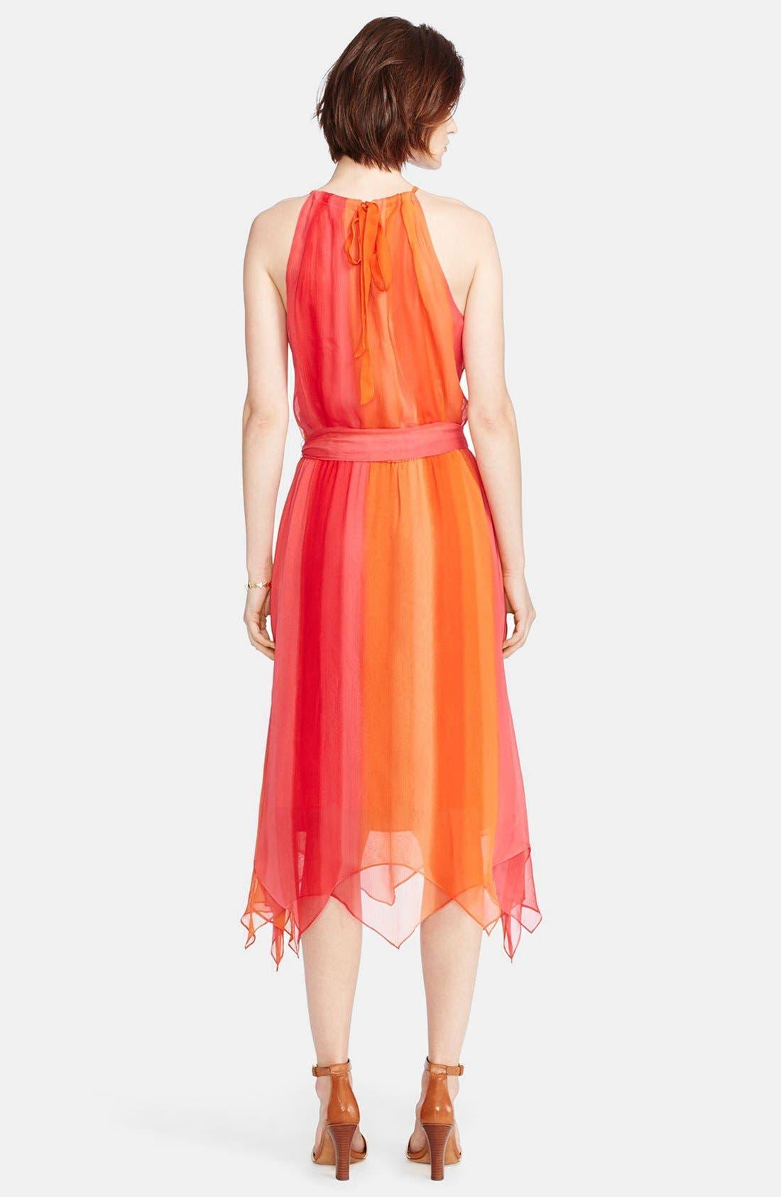 Alternate Image 2  - Lauren Ralph Lauren Silk Ombré Halter Dress