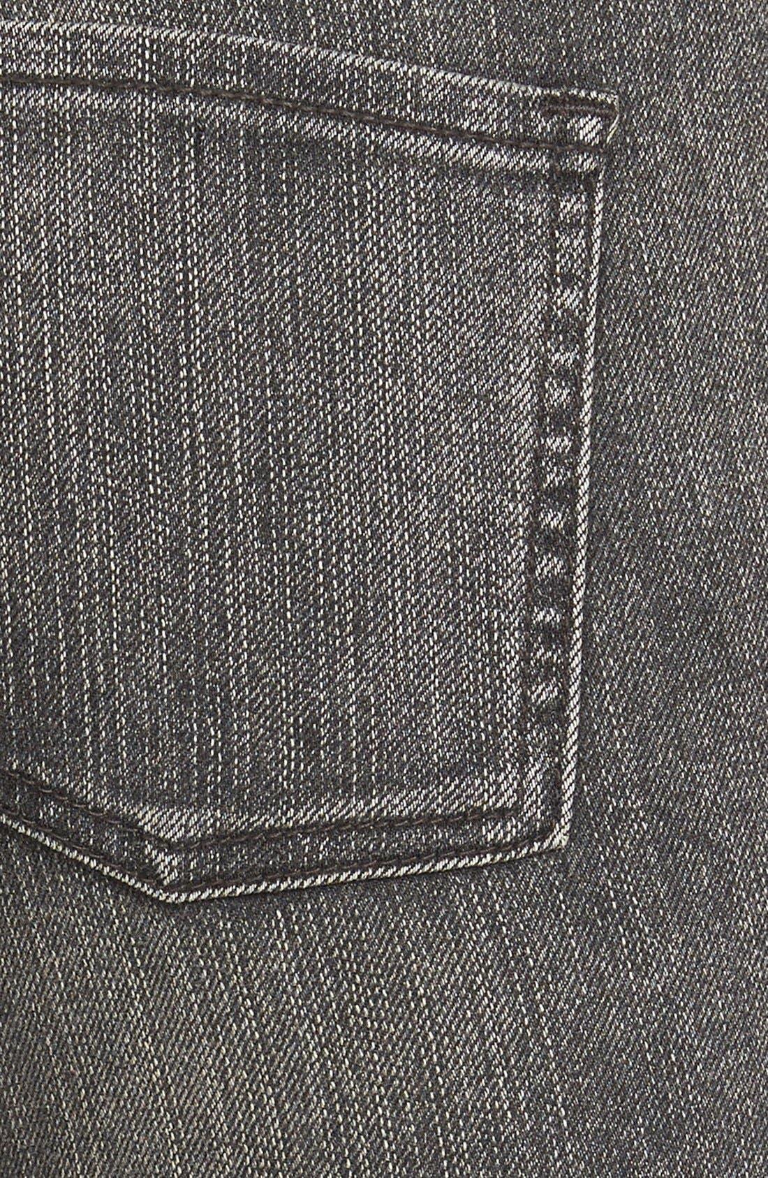 Alternate Image 3  - Volcom Destroyed Cropped Jeans (Gunmetal Grey)