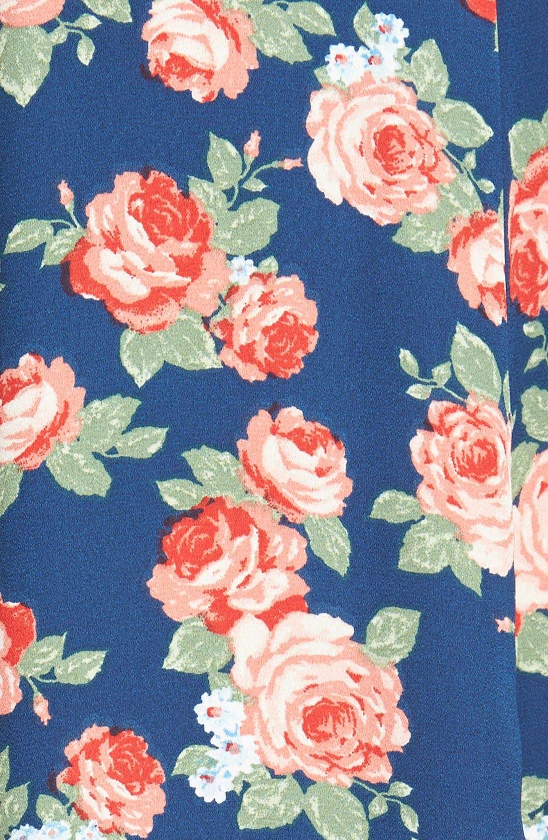 Alternate Image 3  - Lily White Floral Print Maxi Skirt (Juniors)