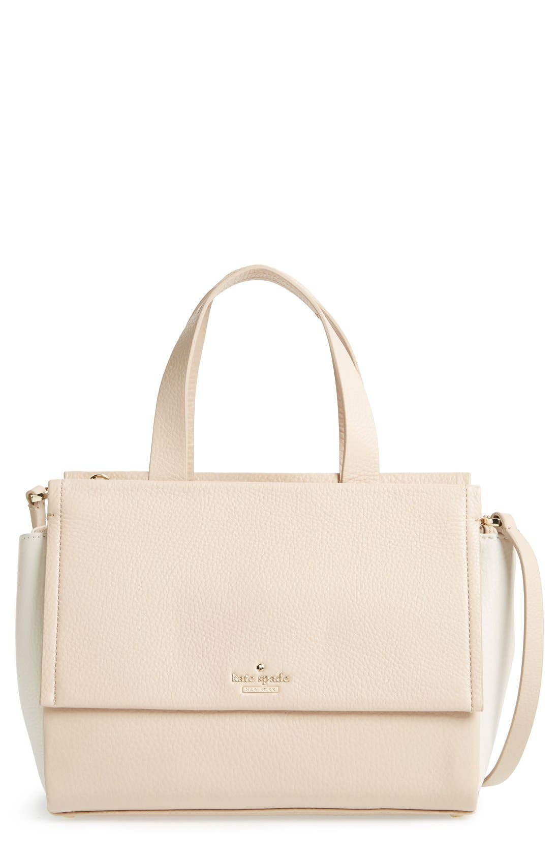 Alternate Image 1 Selected - kate spade new york 'bromley street - adela' pebbled leather satchel