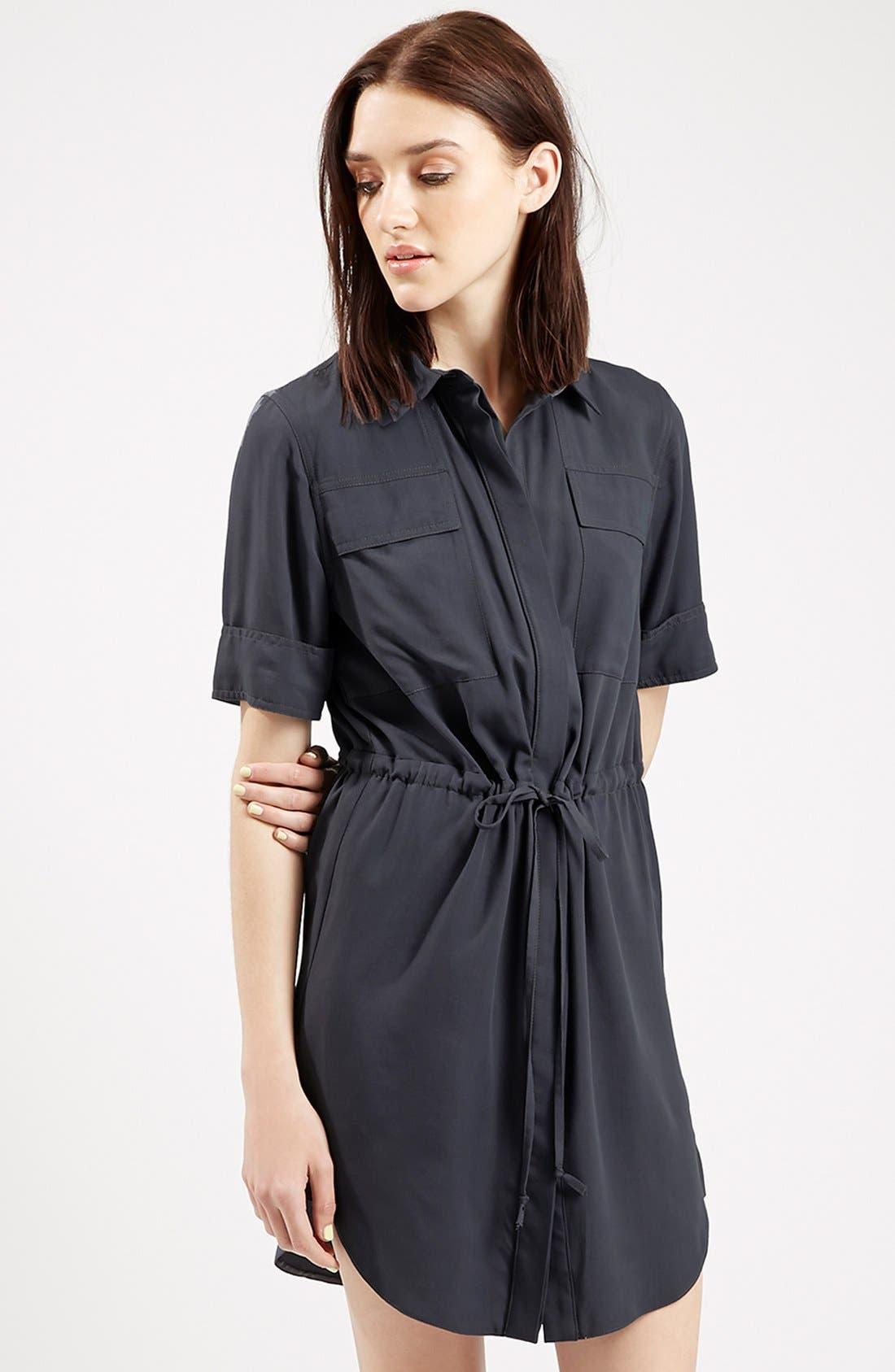 Alternate Image 4  - Topshop Utility Drawstring Dress