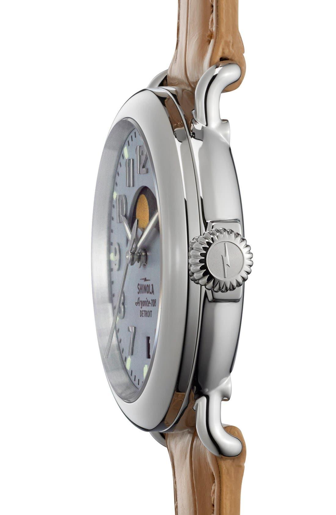 Alternate Image 3  - Shinola 'The Runwell' Moon Phase Leather Strap Watch, 36mm