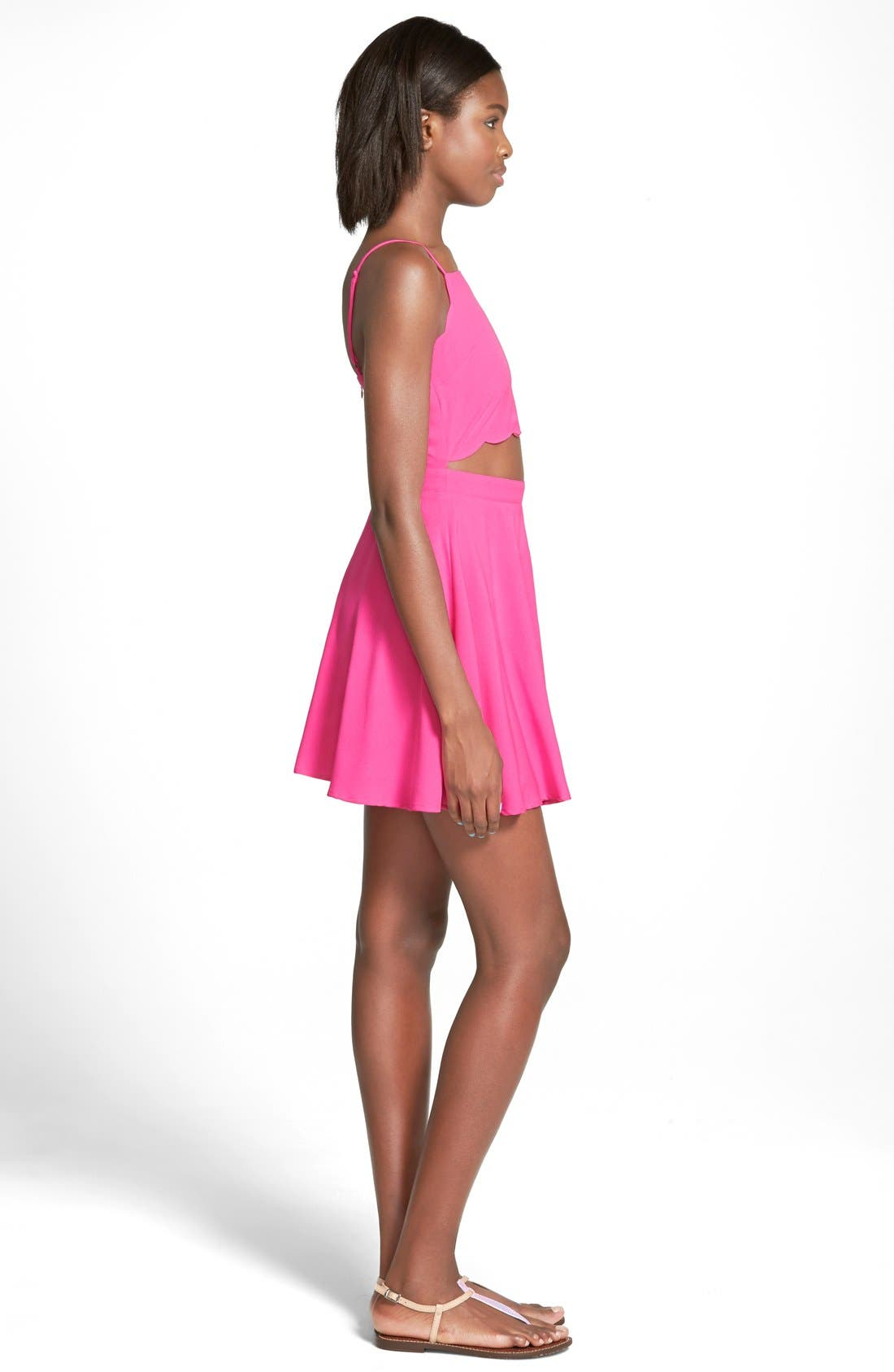 Alternate Image 3  - Cream and Sugar Cutout Skater Dress