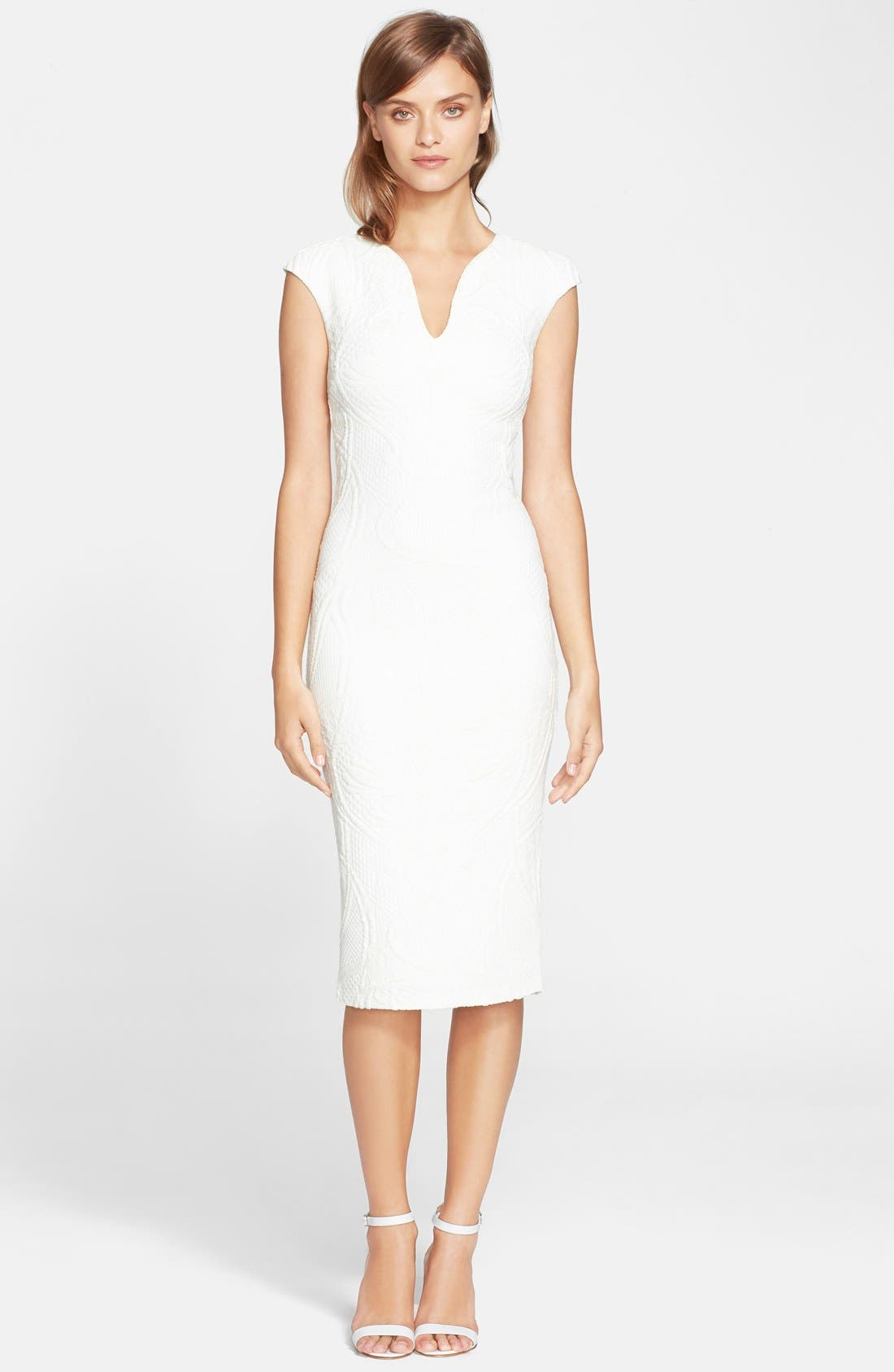 Alternate Image 1 Selected - Ted Baker London 'Sancha' Textured Midi Dress