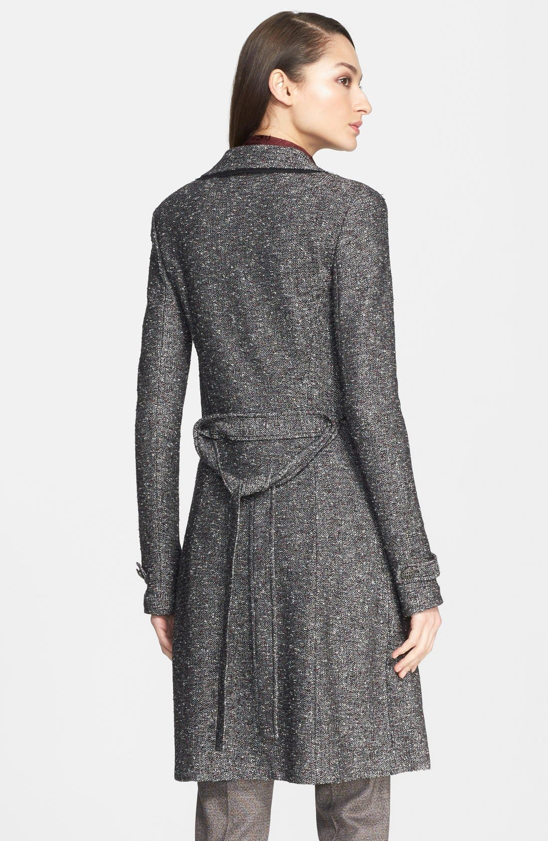 Alternate Image 2  - St. John Collection Flecked Tweed Knit Topper