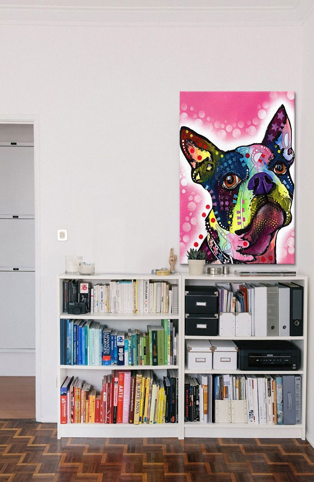 Alternate Image 2  - iCanvas 'Boston Terrier - Dean Russo' Giclée Print Canvas Art