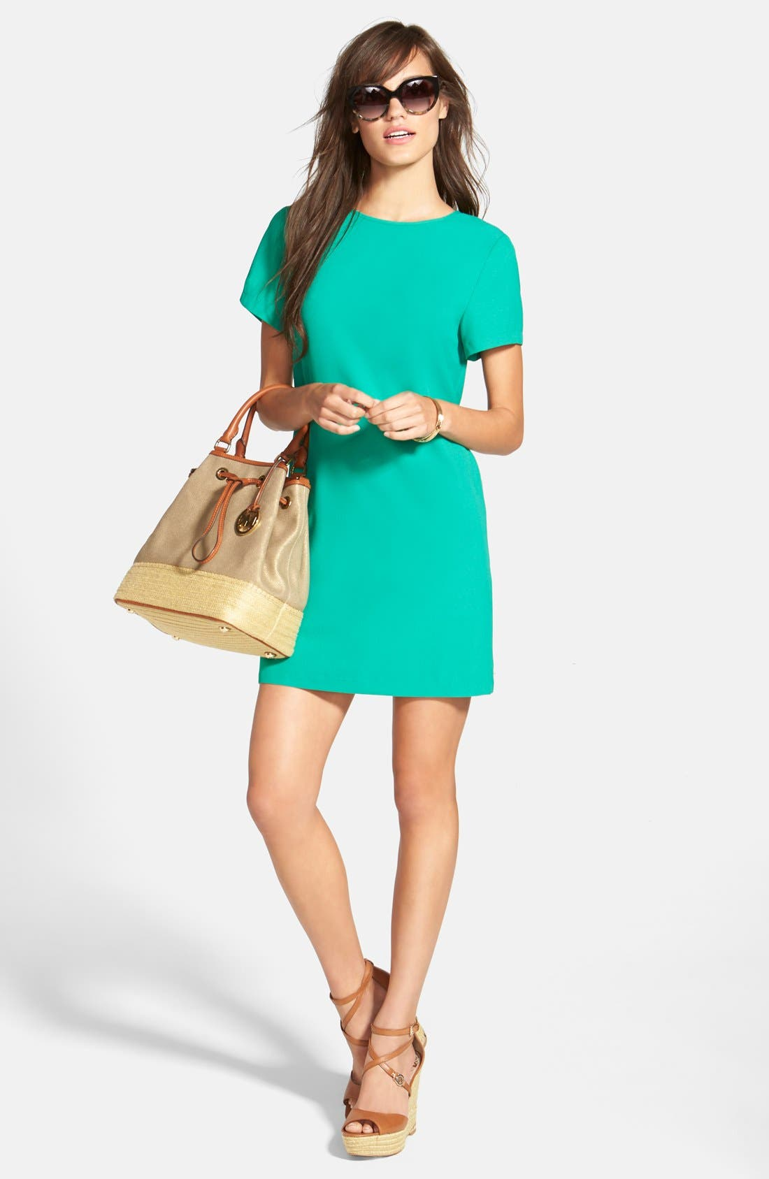 Felicity & Coco Crepe Shift Dress with Accessories