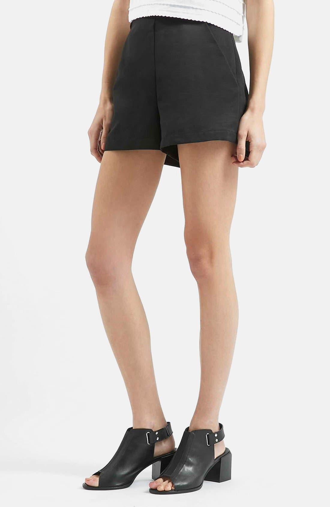 Main Image - Topshop High Rise Button Tab Shorts