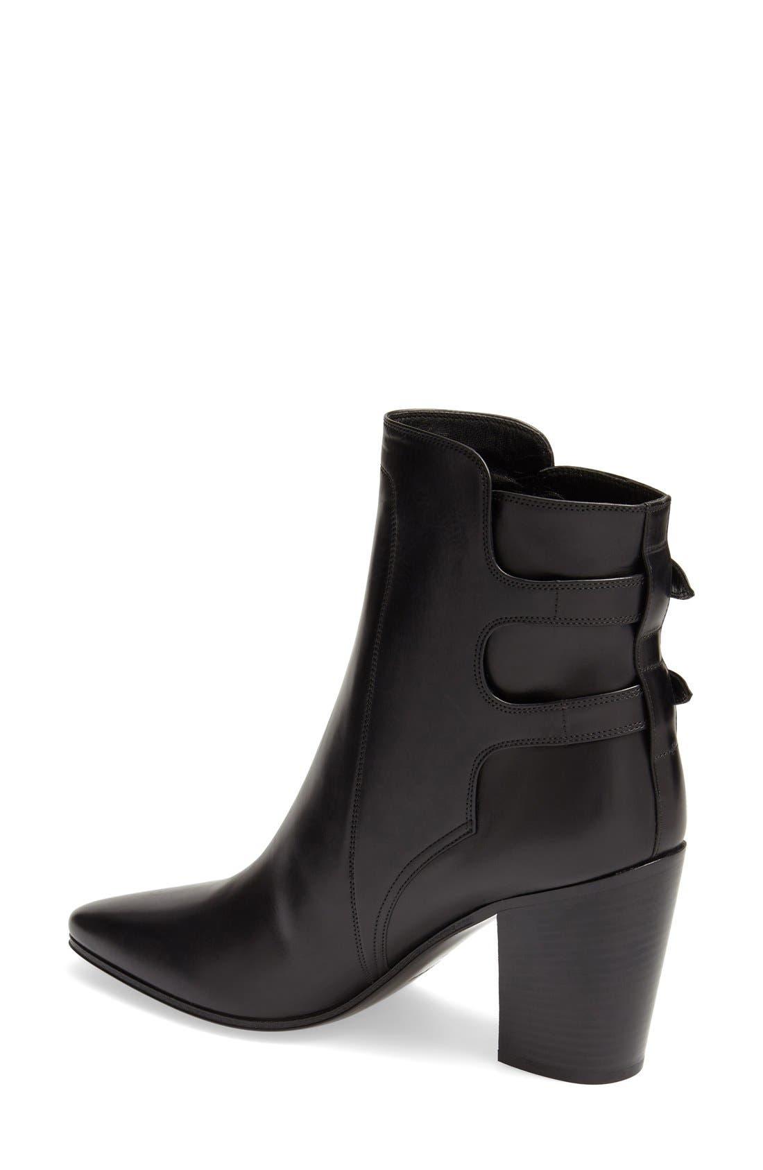 Alternate Image 2  - Saint Laurent Pointy Toe Ankle Boot (Women)