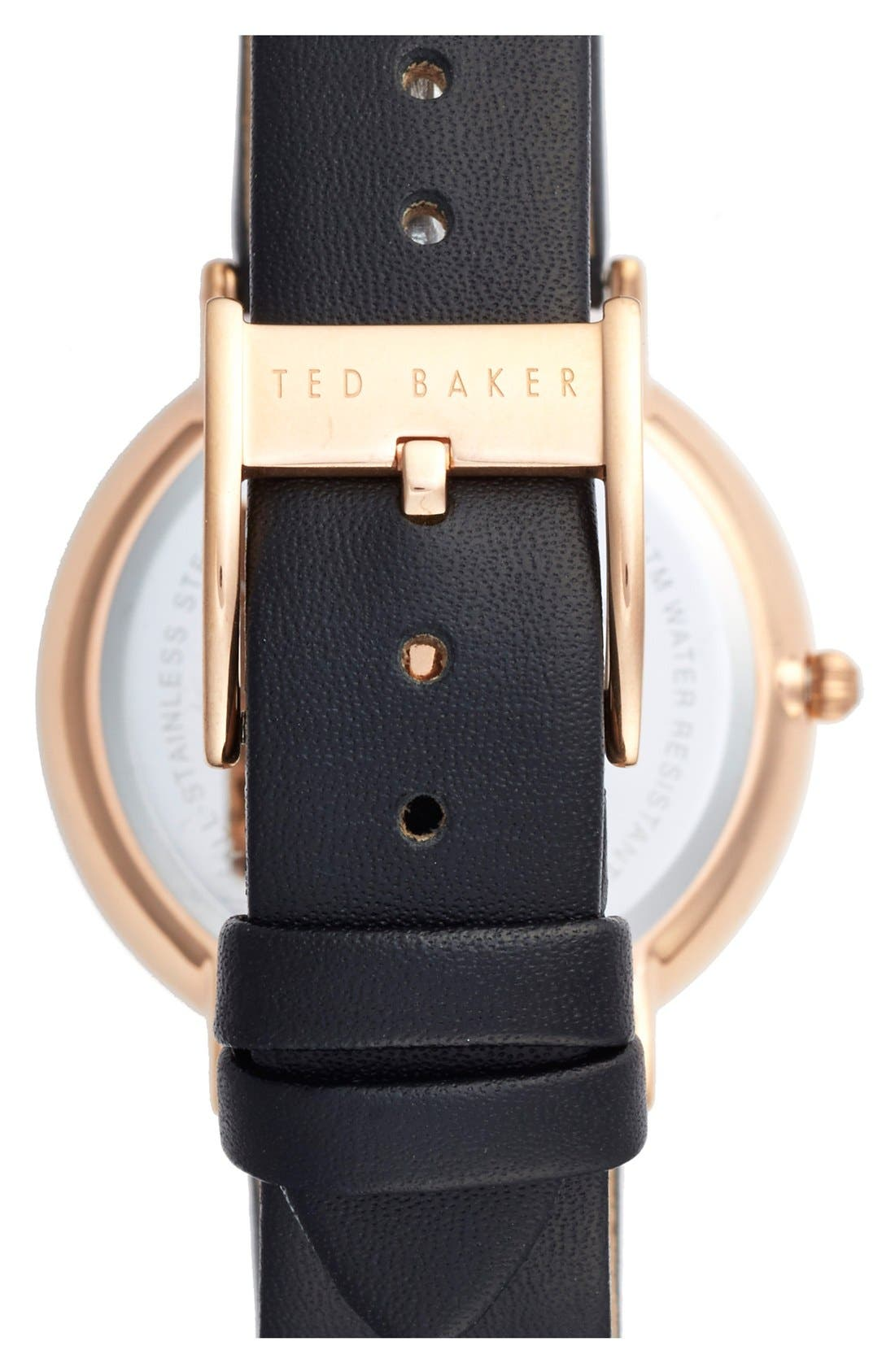 Alternate Image 2  - Ted Baker London 'Dress Sport' Multifunction Leather Strap Watch, 38mm