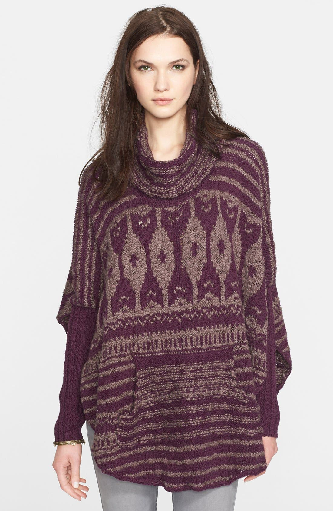 Alternate Image 1 Selected - Free People 'Rosie Lee' Long Sleeve Poncho