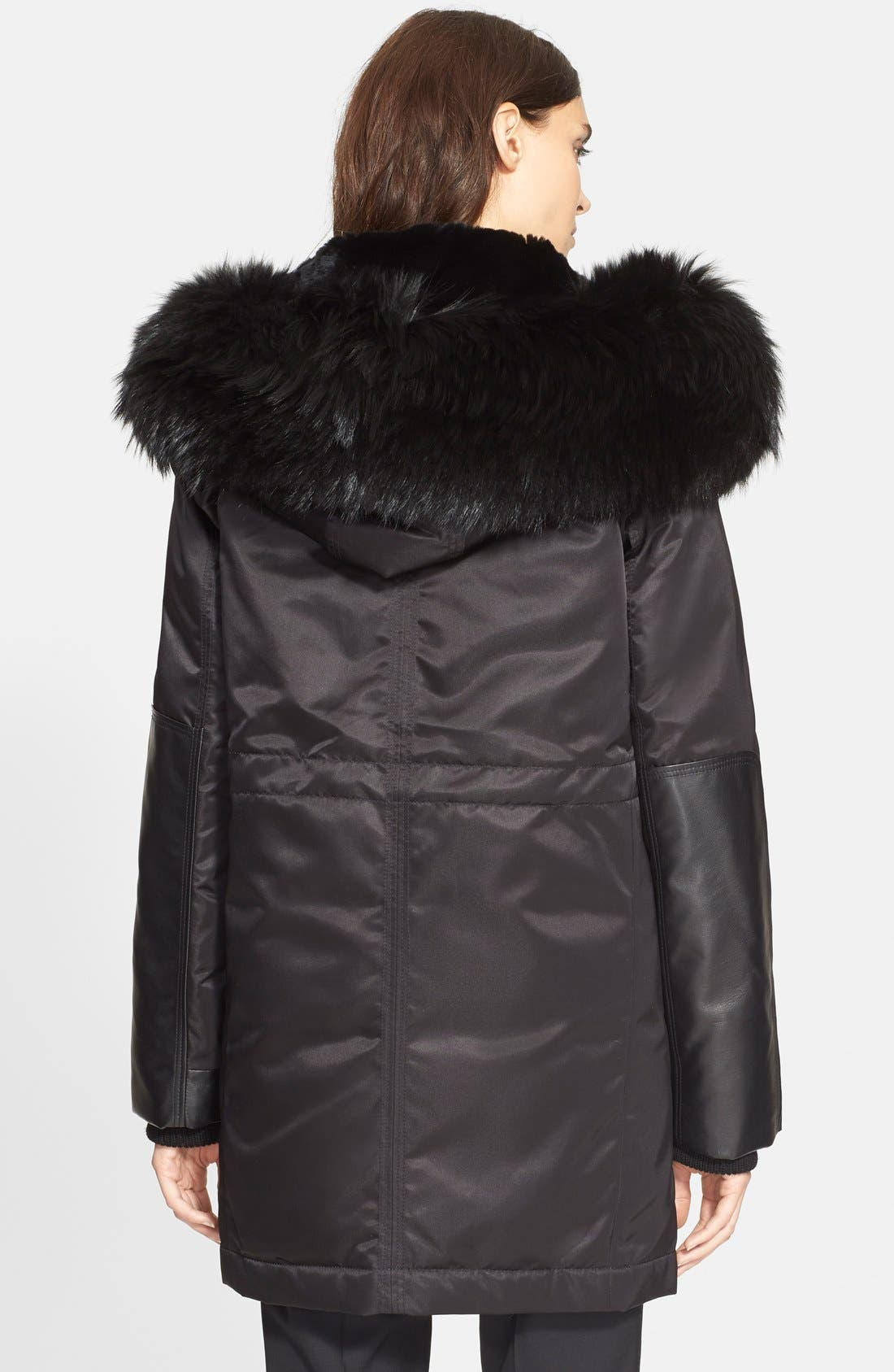 Alternate Image 2  - Theory 'Fabunni' Parka with Leather and Genuine Coyote Fur Trim and Genuine Rabbit Fur Lining