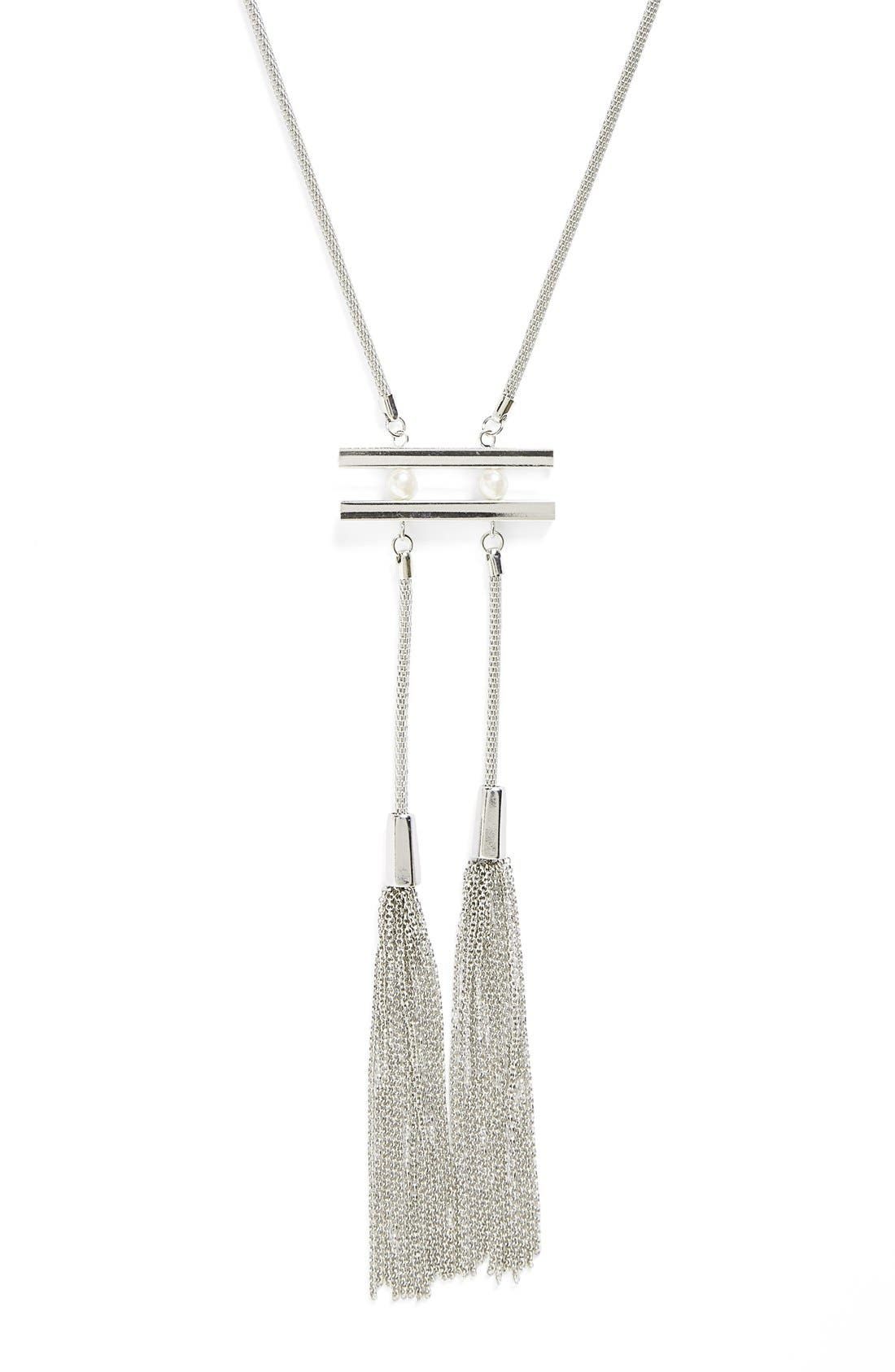 Alternate Image 2  - Topshop Tassel Necklace