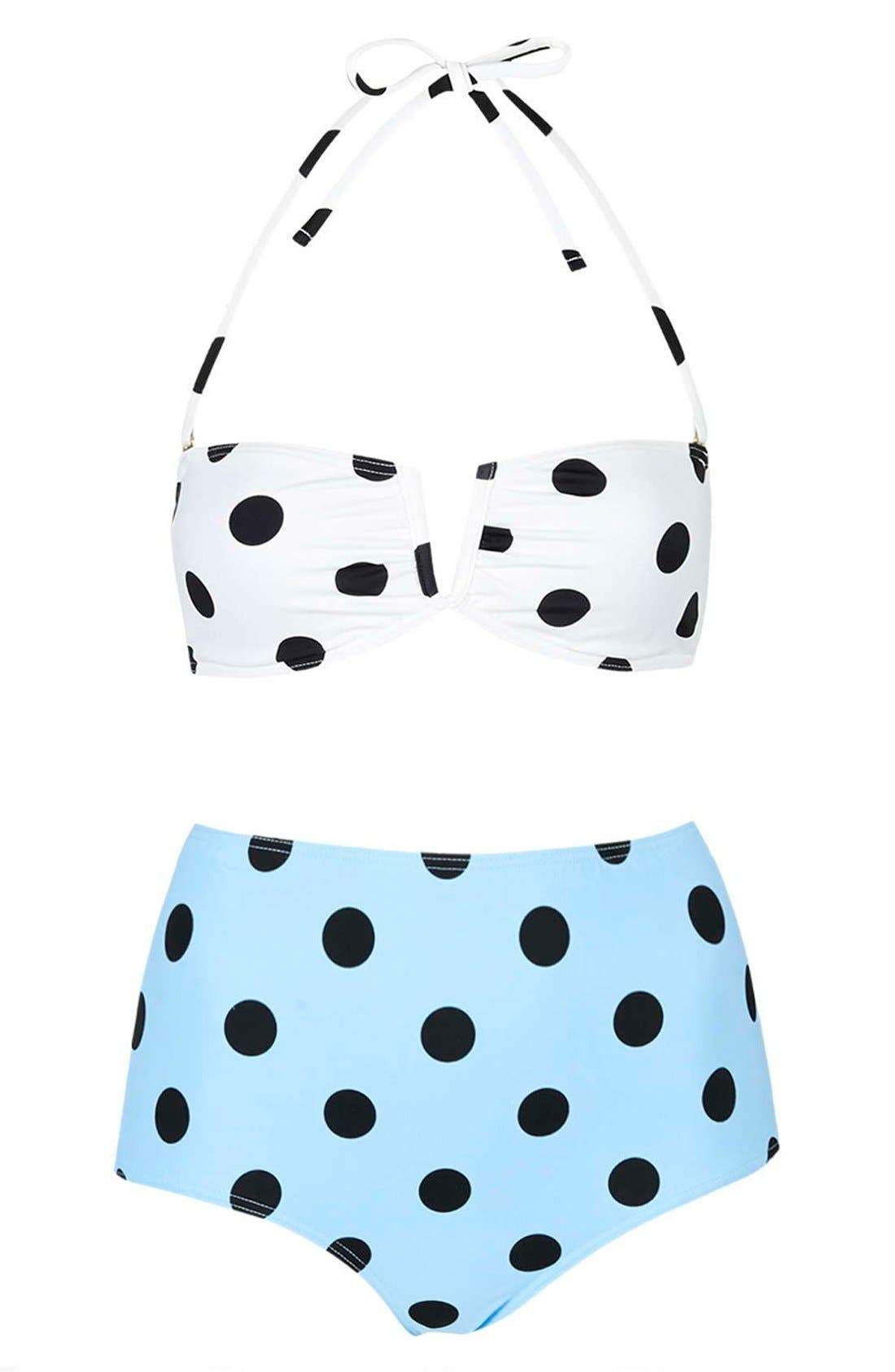 Alternate Image 3  - Topshop Polka Dot Bikini Set