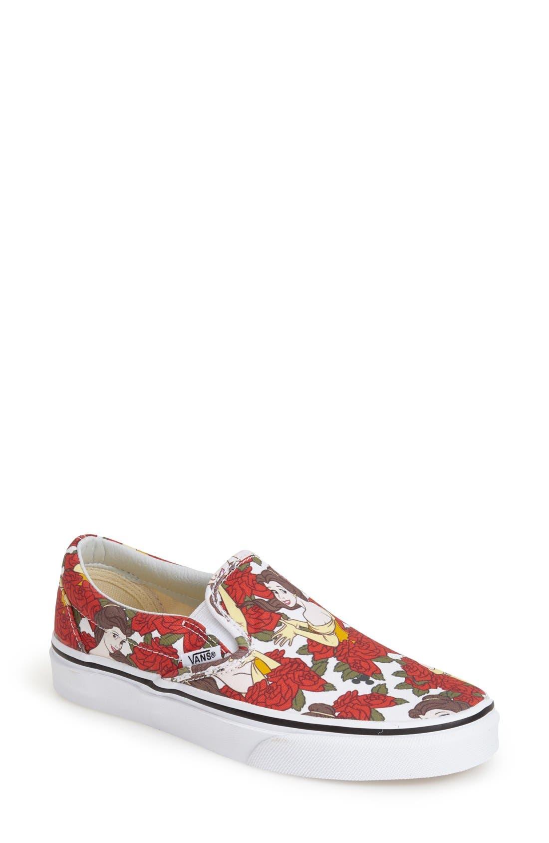 Alternate Image 1 Selected - Vans 'Classic - Disney® Belle' Slip-On Sneaker (Women)