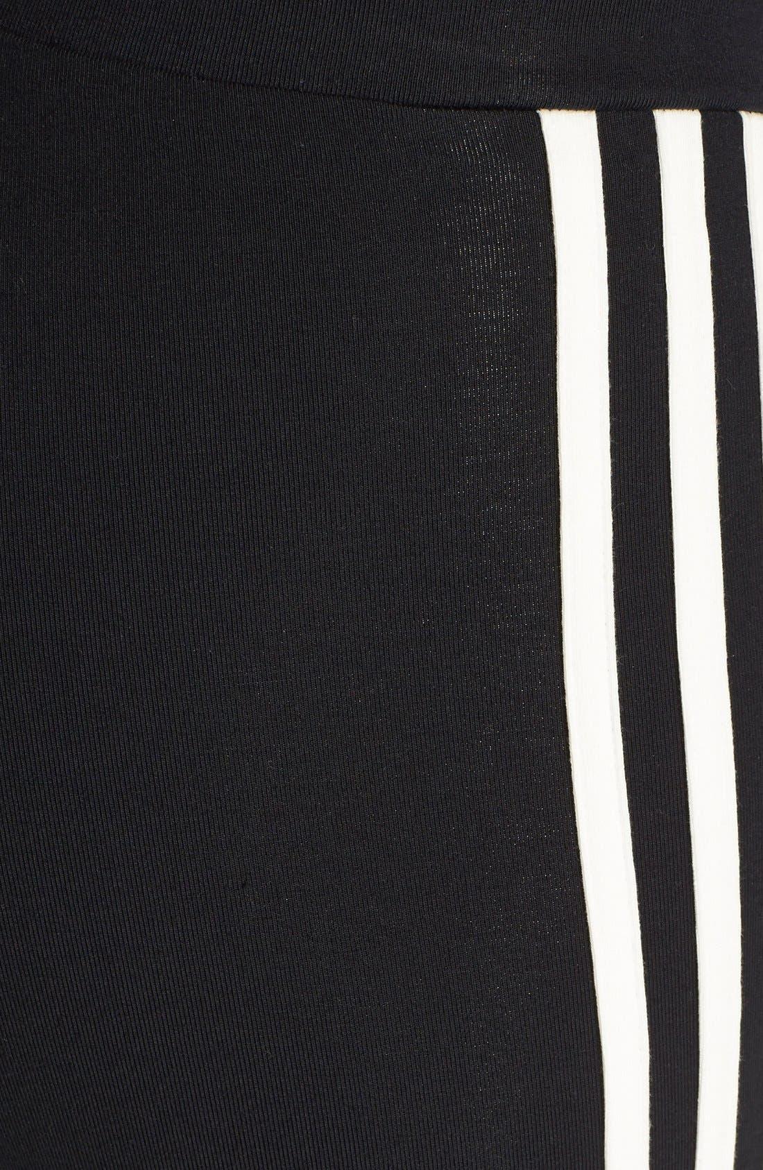 Alternate Image 4  - adidas Originals '3-Stripes' Stretch Cotton Leggings