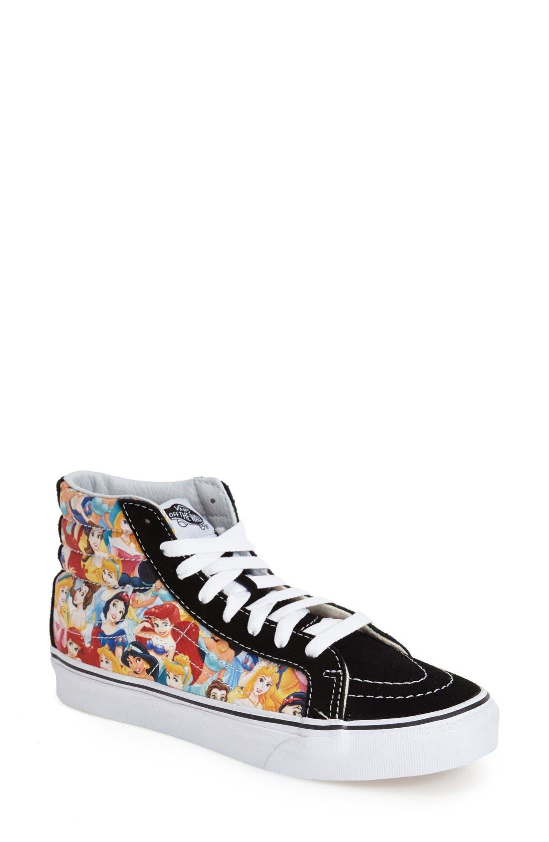 Alternate Image 1 Selected - Vans 'Sk8-Hi Slim - Disney® Princess' Sneaker (Women)