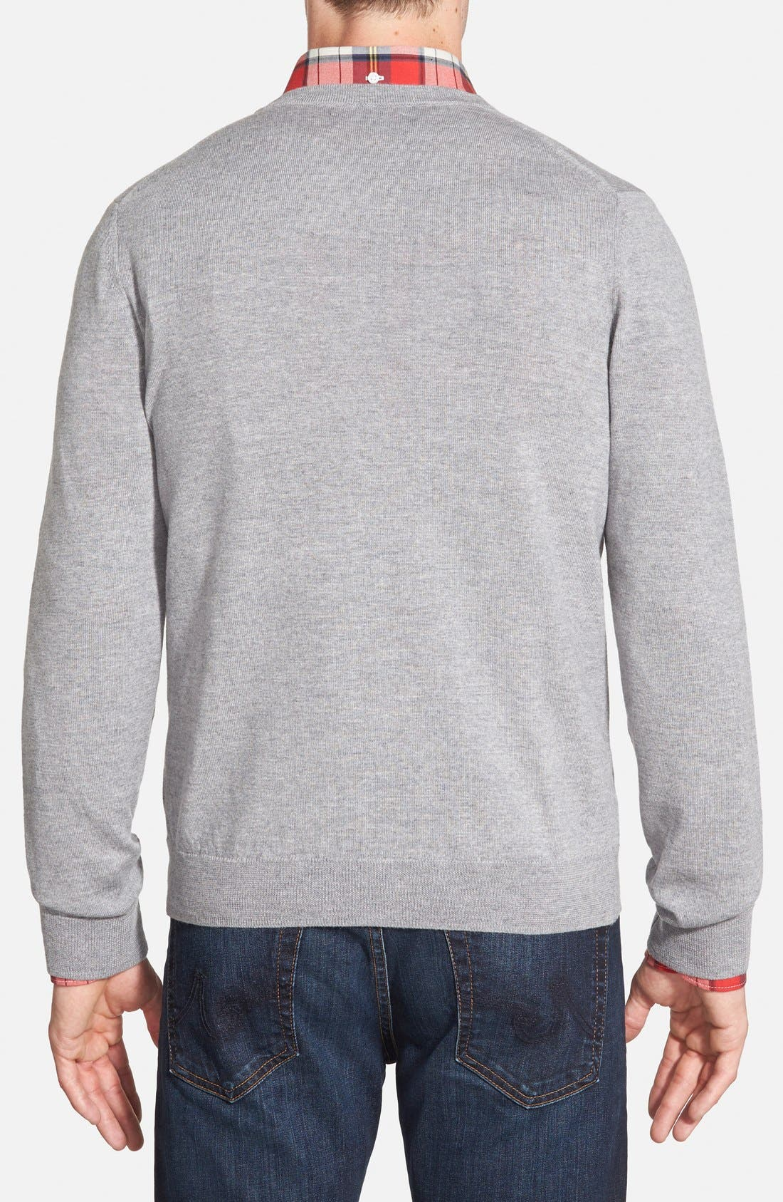 Alternate Image 2  - Nordstrom Men's Shop Merino Wool Cardigan