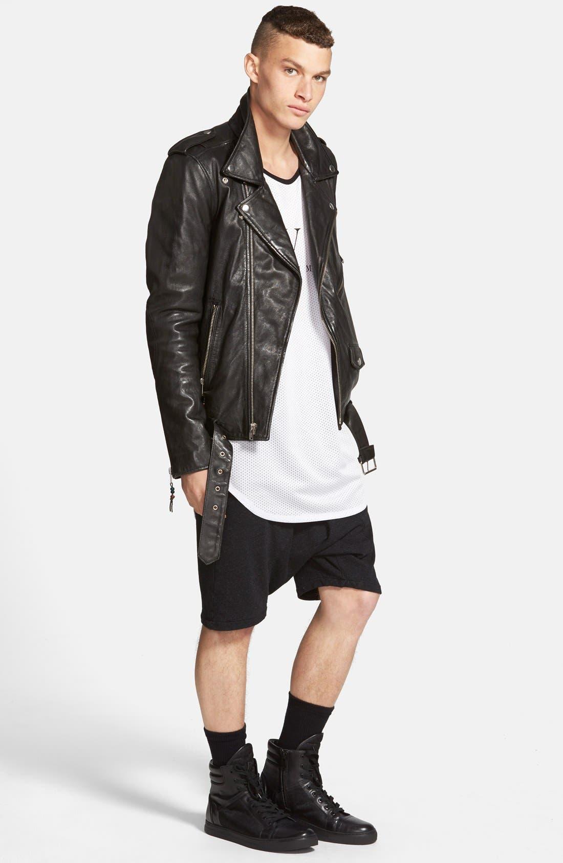 Alternate Image 2  - BLK DNM 'Leather Jacket 5' Leather Moto Jacket