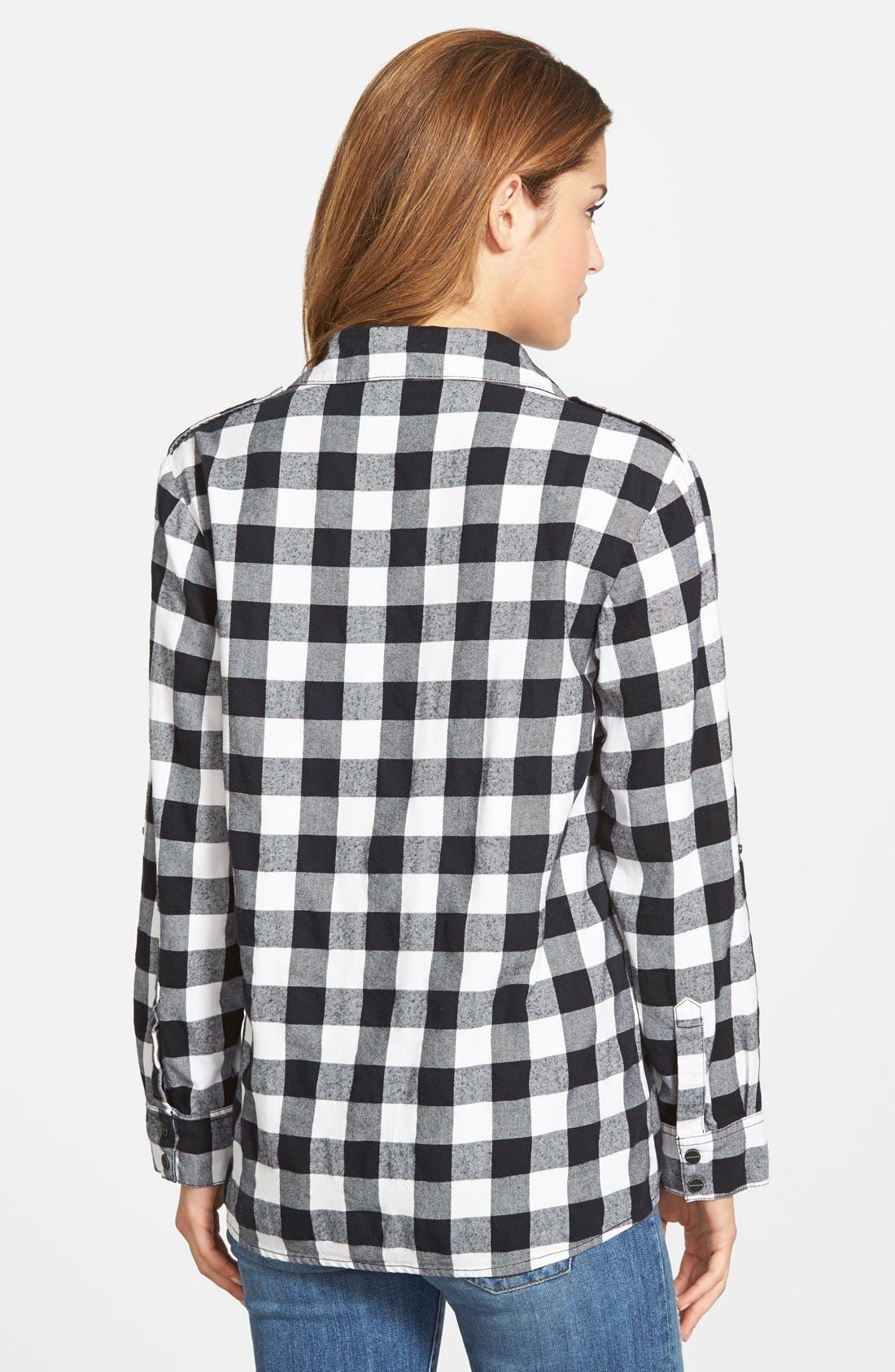 Alternate Image 2  - Sanctuary Plaid Boyfriend Shirt