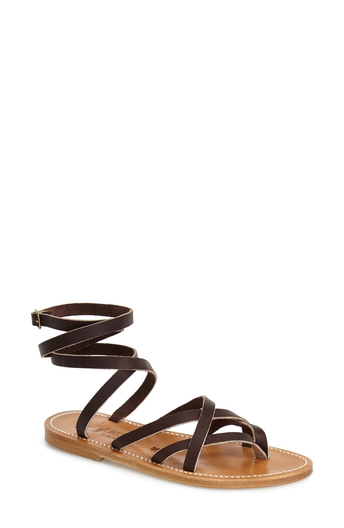 Alternate Image 1 Selected - K.Jacques St. Tropez 'Zenobie' Ankle Wrap Sandal (Women)
