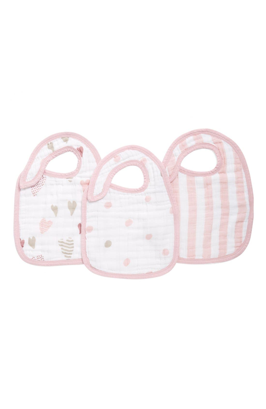 Alternate Image 1 Selected - aden + anais Classic Snap Bib (3-Pack)